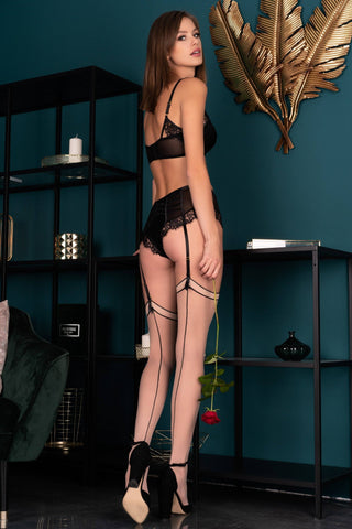 Image of Maramet Poudre Black Stockings