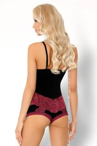 Image of Beccina Pink Rosses Collection Babydoll and Briefs