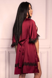 Aresmina Cherry Mahogany Collection Dressing Gown