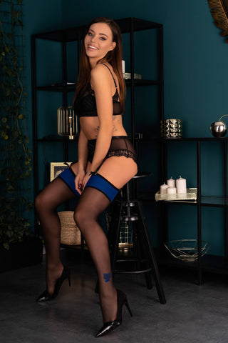 Image of Merivan Blue Top Band Designer Stockings