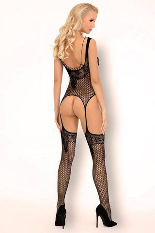 Divnan Black Bodystocking