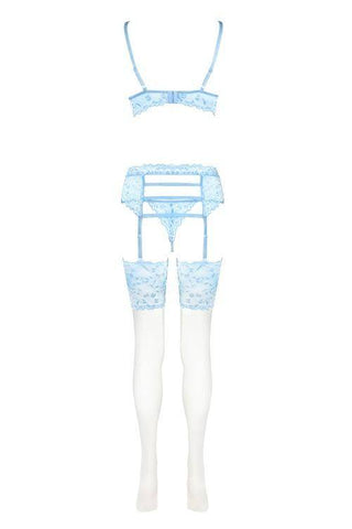 Image of Acarin Air Collection Stunning Blue Lingerie Set