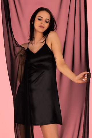 Mirdama Black Est Belle Collection Nightdress and Briefs