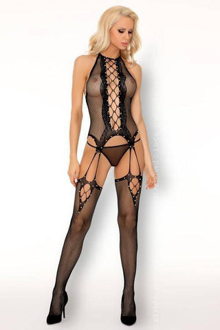 Pirvina Sexy Black Bodystocking