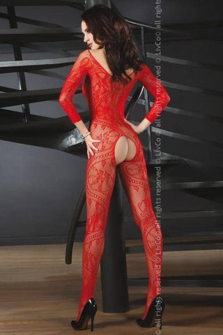 Abra Red Bodystocking