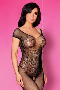 Renza Black Bodystocking
