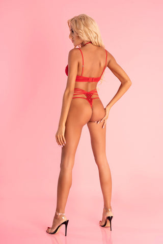 Adelienn Barbados Collection Sexy Red Bodysuit