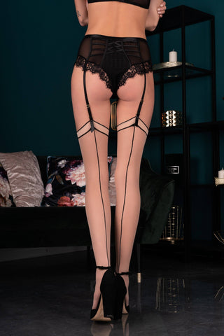 Maramet Poudre Black Stockings