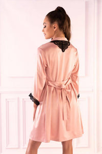 Ariladyen Pink Scallo Collection Dressing Gown
