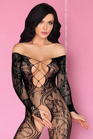 Olamiden Sexy Black Bodystocking