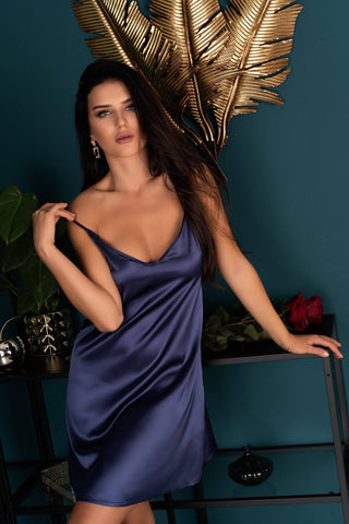 Mirdama Navy Blue Est Belle Collection Nightdress and Briefs