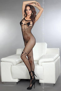 Amkezia Black Decorative Thread Bodystocking