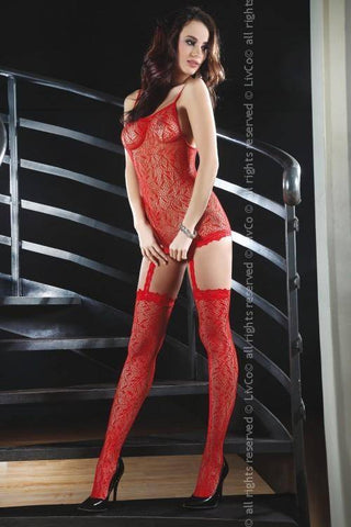 Catriona Red Bodystocking