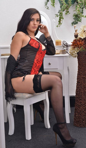 The Deep Sin Corset and Stockings Set