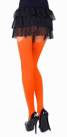 Image of Orange Classic Microfibre Opaque Colored Stockings