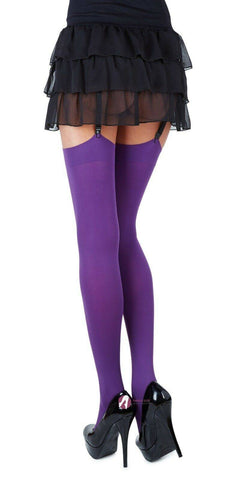 Classic Microfibre Opaque Colored Stockings 27 COLORS (Size S M)