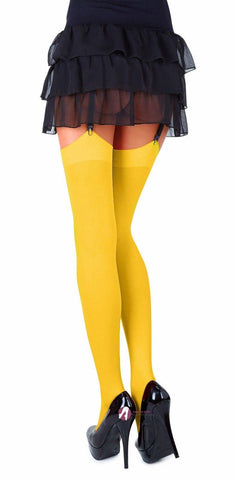 Yellow Classic Microfibre Opaque Colored Stockings