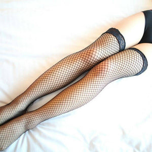 Black Fishnet Stockings Size M