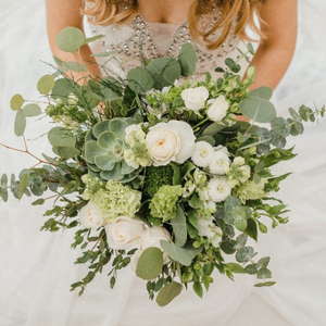 If your wedding is DIY, our Bohemian Green wedding flowers will be sure to fit your theme.