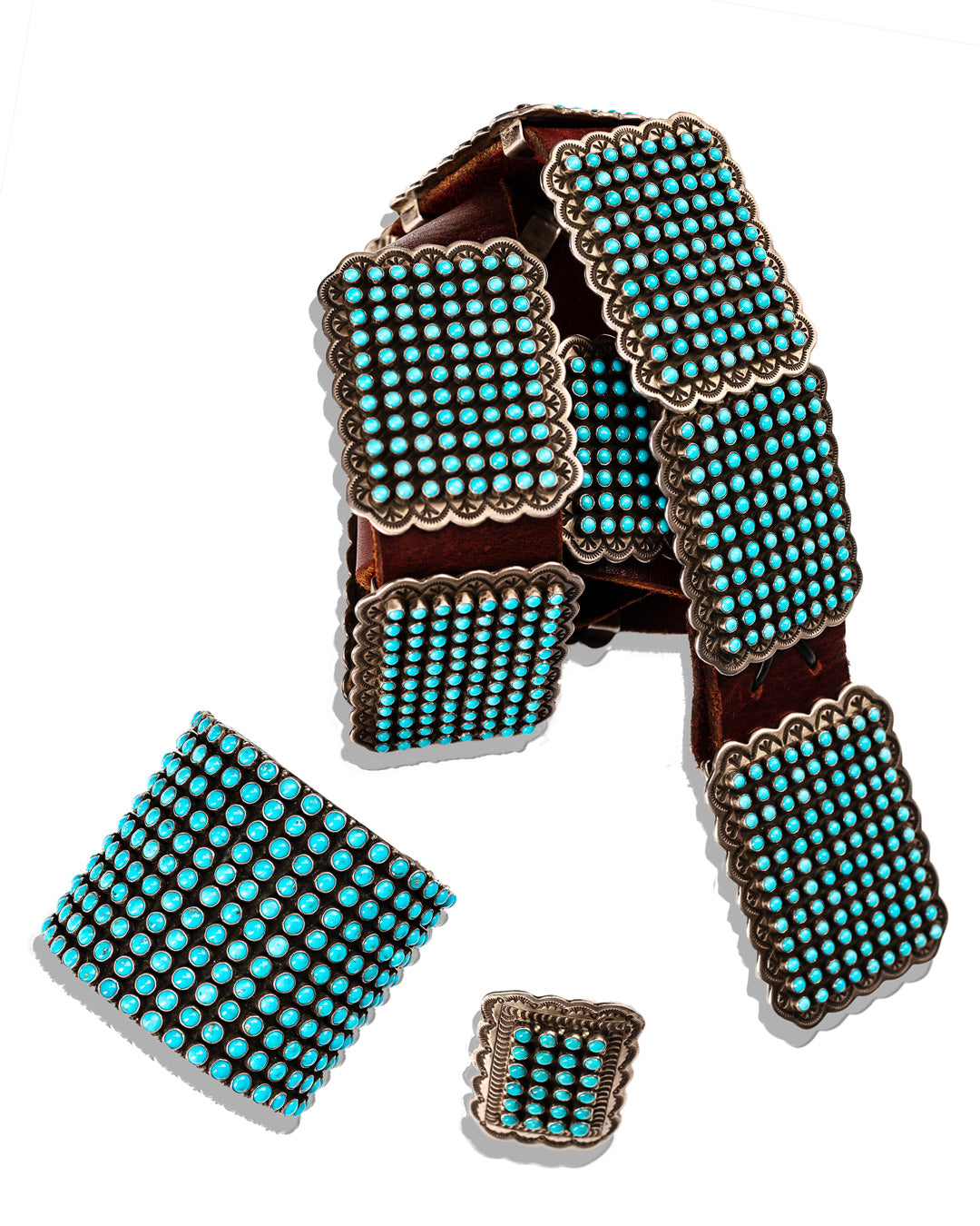 Sleeping Beauty Turquoise Concho Belt