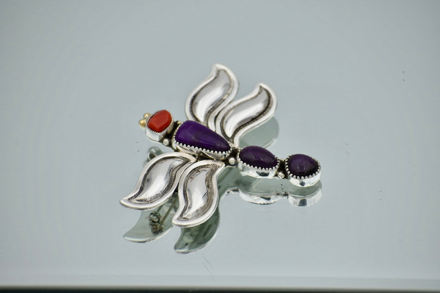 Sugilite and Oxblood Coral Dragonfly