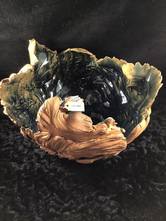Stunning Free Form Clay Bowl