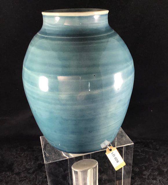 Blue/Green Clay Vase