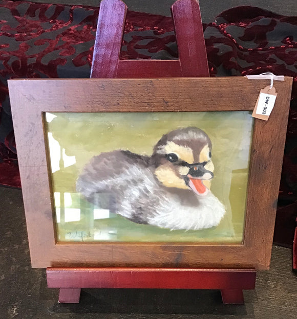 Adorable Duckling Chalk Painting