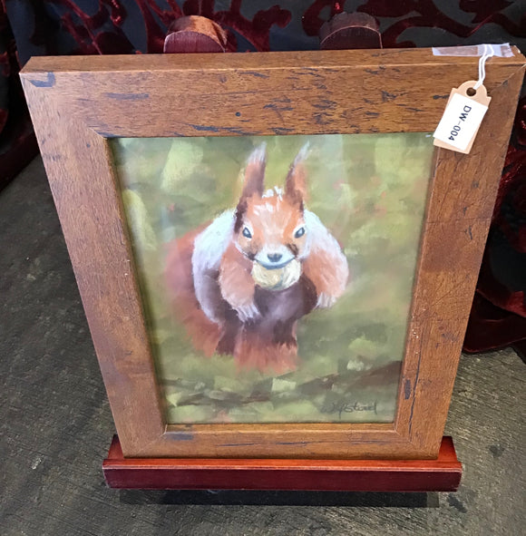 Original Jumping Squirrel Pastel (Chalk) Painting