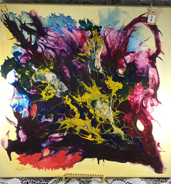 Spectacular and Intensely Colored Alcohol Ink Painting