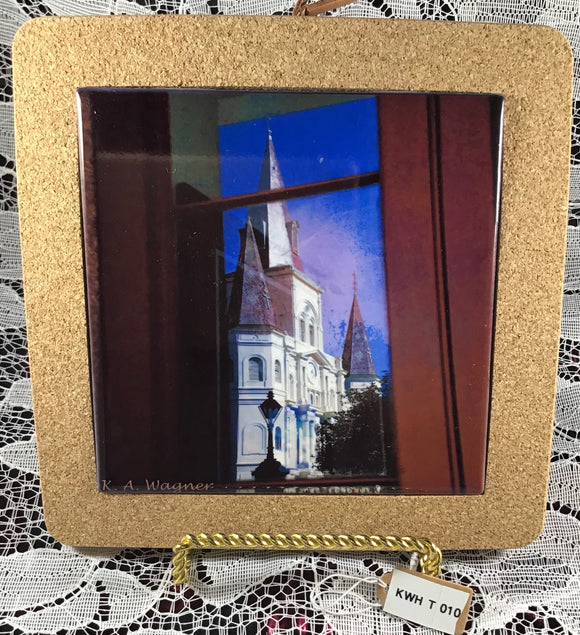 Trivet - Cork Framed -