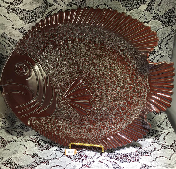 Large Red Fish Platter