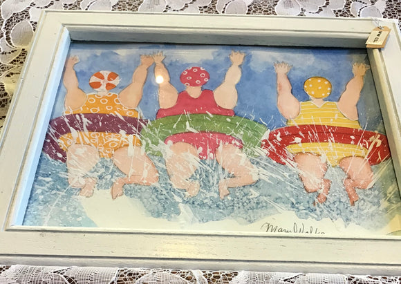 Three Ladies in Inner Tubes Print