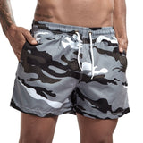 Camouflage Mens Board Shorts Surf Swimwear Beach Short Man Swim Shorts Summer Male Athletic Running Gym Shorts Man Size