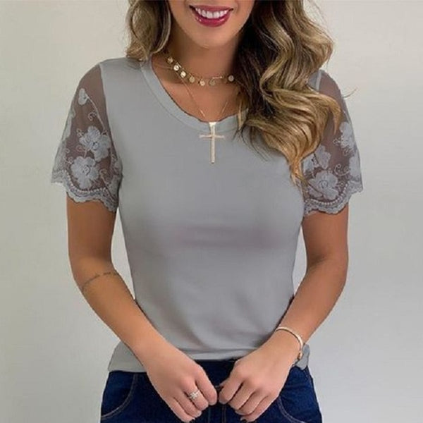Embroidery Lace Shirt