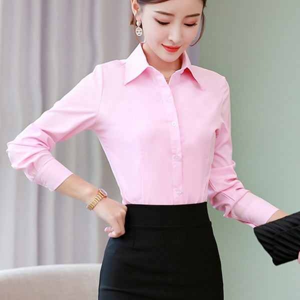 Long Sleeve Cotton Blouses