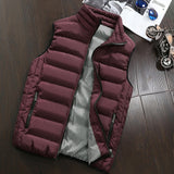 Vest Jacket Mens New Autumn Warm Sleeveless Jacket