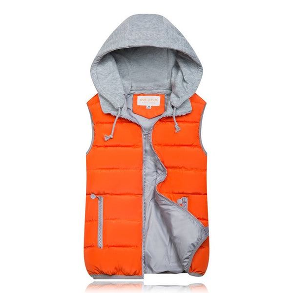 Thick Hooded Vest