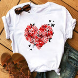Maycaur Vogue T Shirt Women Summer Casual Tshirts Tees Harajuku Korean Style Graphic Tops New Kawaii Short Sleeve Female T-shirt