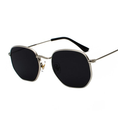 Square Sunglasses Hexagon Mannen