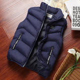 Fashion Mens Jacket Sleeveless Vest Spring Thermal Soft Vests Casual Coats Male Cotton Men's Vest Men Thicken Waistcoat 8XL