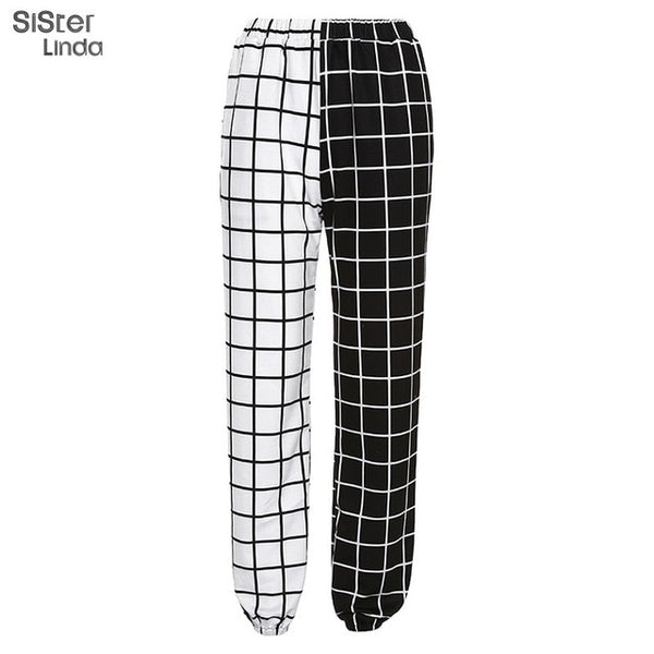 Plaid Black-White Pants