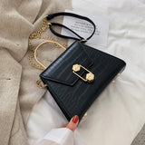 Stone Pattern PU Leather Crossbody Bag