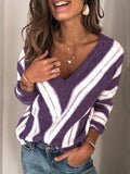 Knit Pullover Striped Sweater