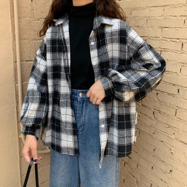 4 Colors Chic Plaid Shirt