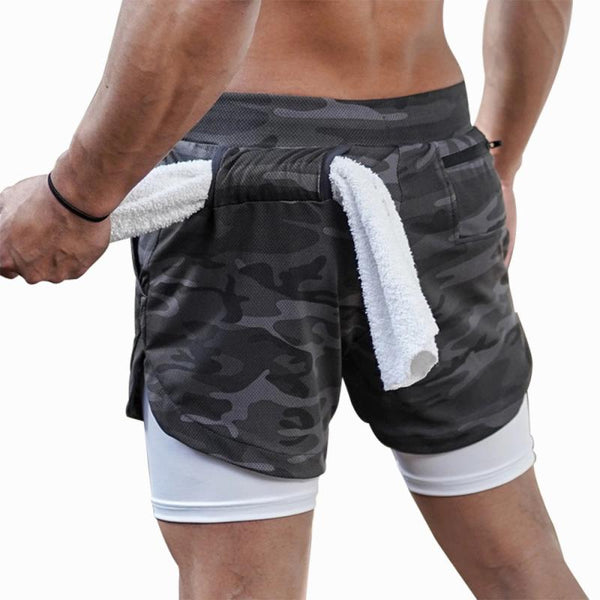 Camo Running Workout Shorts