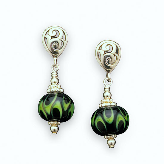 Winter Moss Earrings