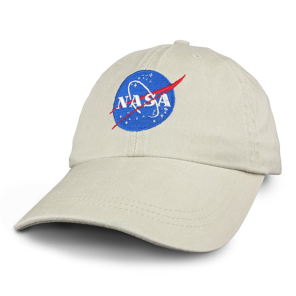 d14d84ba37c Armycrew NASA Insignia Embroidered 100% Cotton Washed Cap - Armycrew.com