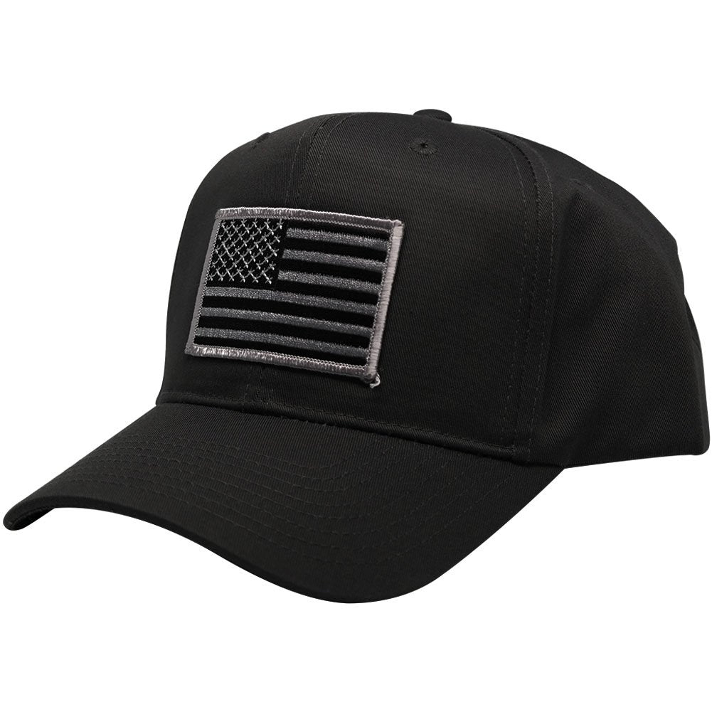Subdued Grey American Flag Embroidered Iron On Patch Ball Cap ... 7d51715e6a9