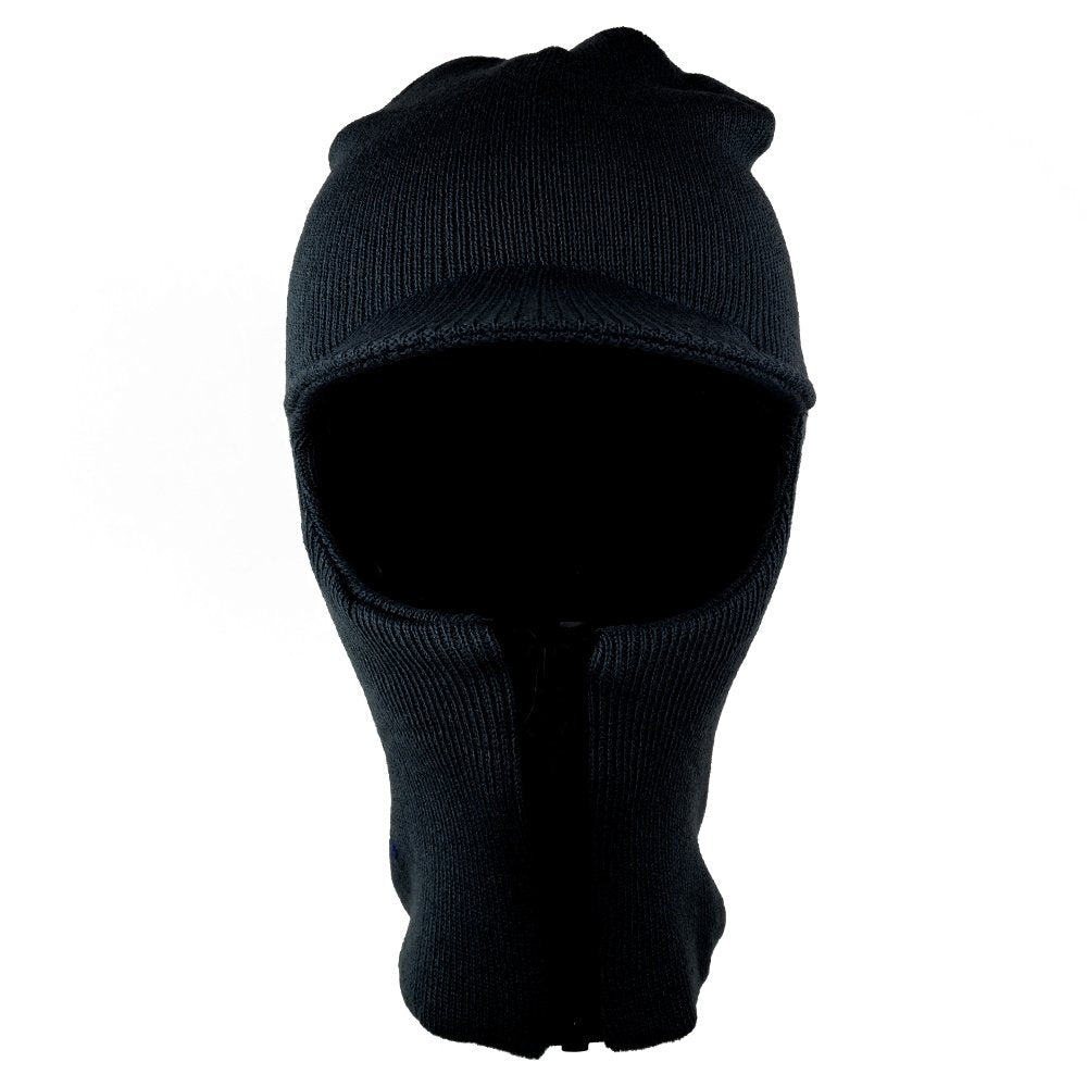 c917d30d4c4 One Hole Zip Up Winter Ski Mask with Front Visor - Armycrew.com